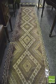 Sale 8352 - Lot 1034 - Turkish Kilim in Brown Runner (54 x 265cm)
