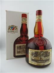 Sale 8398A - Lot 887 - 1x Grand Marnier Liqueur, France - 1000ml in box, stained label