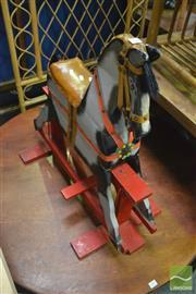 Sale 8386 - Lot 1052 - Timber Rocking Horse