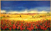 Sale 8427 - Lot 529 - Melissa Egan (1959 - ) - Tuscan Countryscape 125 x 204cm