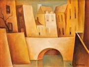 Sale 8549 - Lot 523 - Bill Coleman (1922 - 1993) - Street Scene 29.5 x 39.5cm