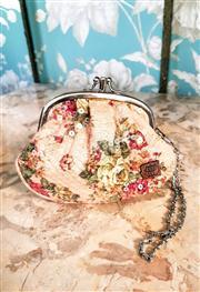 Sale 8577 - Lot 33 - A pretty Anna Sui floral sequin double coin purse, W 15 x H 13cm