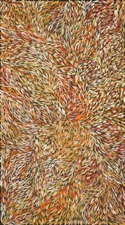 Sale 8704 - Lot 578 - Jeannie Petyarre (1956 - ) - Bush Yam Leaves 200 x 112cm