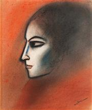 Sale 8781 - Lot 559 - Robert Dickerson (1924 - 2015) - Portrait of a Woman 37 x 31.5cm
