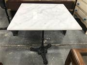 Sale 8822 - Lot 1226 - Marble Top Table with Paris Base