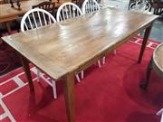 Sale 8822 - Lot 1197 - Oak Farmhouse Style Dining Table