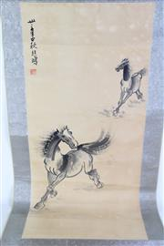 Sale 8902C - Lot 609 - Chinese Scroll of a Horse (L168cm)