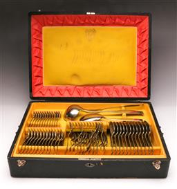 Sale 9107 - Lot 7 - Wellener cased cutlery setting for 12