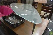 Sale 8287 - Lot 1064 - Rolfe Benz Triangular Coffee Table