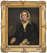 Sale 8576 - Lot 1012A - Attributed to Joseph Backler (1813 - 1895) - Portrait of a Young Woman in Black 89.5 x 72.5cm