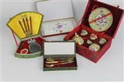 Sale 8396 - Lot 32 - Chinese Boxed Teaset with Other Oriental Wares incl Inkstone Set