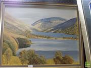 Sale 8513 - Lot 2018 - Robert Hogg (Early 20th Century) Highland Lake Scene, oil on board, 39 x 49.5, signed R.H. lower left