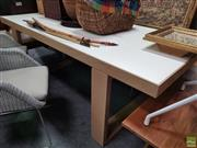 Sale 8637 - Lot 1064 - Modern Timber Dining Table