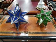 Sale 8700 - Lot 1084 - Two Moroccan Tetrahedron Star of David Hanging Shades
