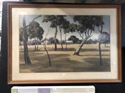 Sale 8789 - Lot 2076 - Don Hamilton - Homestead & Shed, Watercolour, SLR, 46x72cm