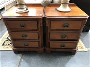 Sale 8822 - Lot 1261 - Pair of Three Drawer Bedsides