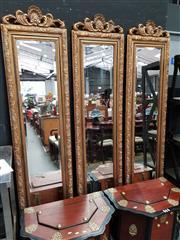 Sale 8834 - Lot 1009 - Set of 3 Gilt Framed Mirrors