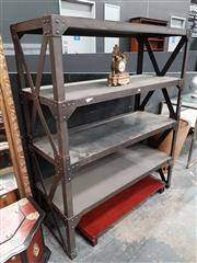 Sale 8834 - Lot 1008 - Large Industrial 4 Tier Shelving