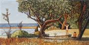 Sale 8938 - Lot 567 - Peter Baka (1958 - ) - Sunny South, 1993 (After Tom Roberts) 58.5 x 117 cm