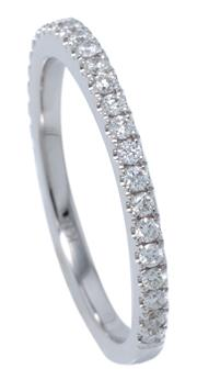 Sale 8991 - Lot 371 - AN 18CT WHITE GOLD DIAMOND RING; three quarter hoop set with 28 round brilliant cut diamonds totalling approx. 0.33ct, size M1/2, wt...