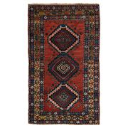 Sale 9020C - Lot 41 - Antique Caucasian Kazak Rug, C1940, 120x220cm, Handspun Wool