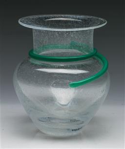 Sale 9148 - Lot 90 - Art glass Kosta Boda vase by Monica Backstrom, marked to base (H:16cm)