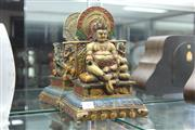 Sale 8324 - Lot 53 - Bronze Jambhala Buddha God of Wealth on Throne