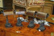 Sale 8386 - Lot 1021 - Set of 4 Figural table Lamps