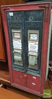 Sale 8409 - Lot 1053 - Vintage Iron 5c & 2c Stamp Vending Machine