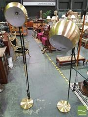 Sale 8424 - Lot 1025 - Pair of Cantilever Floor Lamps