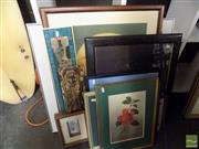 Sale 8513 - Lot 2074 - An Assortment of Various Artworks, mostly decorative prints incl. signed Paul Jones print.