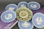 Sale 8604W - Lot 30 - Wedgwood Plates (9)- Mainly Blue Jasperware Christmas Plates