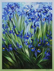 Sale 8652 - Lot 507 - David Voigt (1944 - ) - Blue Iris, 1998 65 x 50cm
