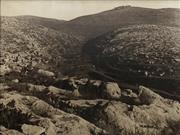 Sale 8704 - Lot 592 - Attributed to James Pinkerton Campbell - The Hills of Judea, North-west of Jerusalem, December 1917 75 x 101.5cm