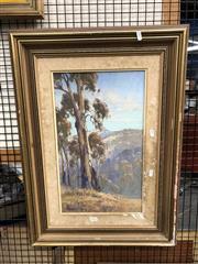 Sale 8789 - Lot 2125 - Alan Fizzell - Hillside Bullio, Oil, SLL 49x28.5cm