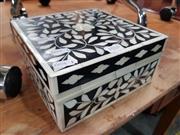 Sale 8834 - Lot 1018 - Bone Inlaid Small Trinket Box