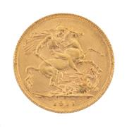 Sale 8855H - Lot 60 - 1911 Gold Sovereign weight approx 7.95g