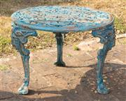 Sale 8871H - Lot 65 - Cast iron coffee table. Height 43cm x Width 60cm