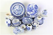 Sale 8994 - Lot 89 - Collection of blue and white ceramics incl. Old Willow pattern