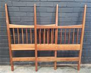 Sale 9039 - Lot 1070 - Vintage Teak Single Bed Head and End (h:128 x w:91cm)