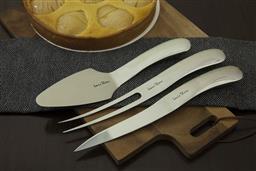 Sale 9138L - Lot 60 - Laguiole by Louis Thiers Organique 3-Piece Cake Set  - polished finish