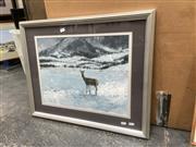 Sale 9091 - Lot 2087 - Peter Mardon, Fresh Snow in the Foothills, 1993, oil on paper, frame: 56 x 66 cm, signed lower right