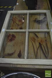 Sale 8347 - Lot 1040 - Bird Themed Window Wall Hanging