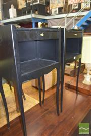 Sale 8390 - Lot 1212 - Pair of French-Style Bedside Cabinets