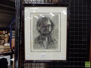 Sale 8410T - Lot 2036 - Paul Delprat (1942 - ) - Self-Portrait 20 x 15cm