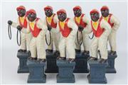 Sale 8417 - Lot 41 - Cast Iron Handpainted Figural Ornaments (7)