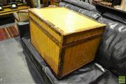Sale 8472 - Lot 1032 - Woven Lift Top Trunk
