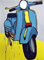 Sale 8507A - Lot 5002 - Jasper Knight (1974 - ) - Two Blue Piaggio 102.5 x 76cm