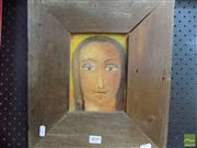 Sale 8513 - Lot 2049 - Margaret Cole Icon, 1996 oil on canvas, 18 x 13cm, signed lower left
