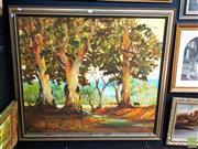 Sale 8659 - Lot 2051 - Ken Smith - Bush Scene, large oil on canvas, SLL